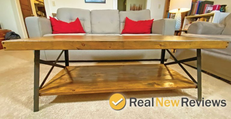 Emerald Home Mid Century Modern Coffee Table Side View